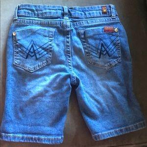 7 For all mankind EUC denim shorts